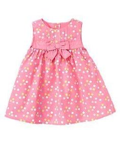 Pleated Dot Jumper love this!Kids Clothes, Baby Clothes, Toddler Clothes at Gymboree Frocks For Girls, Kids Frocks, Kids Outfits Girls, Little Girl Dresses, Toddler Outfits, Girl Outfits, Girls Dresses, Kids Girls, Girls Frock Design