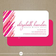 Makeup Artist Lipstick Business Card / Calling Card / Mommy Card - CUSTOMIZE Colors and Content
