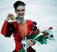 """The Golden Queen - Four-time Ladies World Figure Skating Champion (1984, 1985, 1987, and 1988), Six-time Ladies European Figure Skating Champion (1983-88), and Two-time Ladies Olympic Figure Skating Champion (1984 and 1988), Katarina """"Kati"""" Witt"""