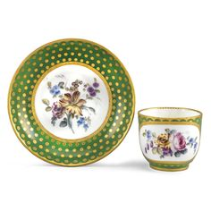 c1767 A Sèvres cup and saucer 1767 Estimate   2,000 — 3,000  GBP 3,234 - 4,852USD  LOT SOLD. 1,750 GBP (2,830 USD)