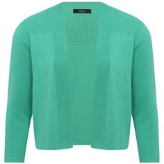 M&Co Cropped Cardigan (57.845 COP) ❤ liked on Polyvore featuring tops, cardigans, jade, green top, green cardigan, long-sleeve crop tops, open front cardigan and cut-out crop tops