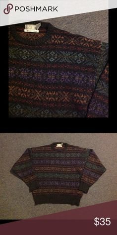 Men's Wool Fair Isle Nordic Snowflake Ski Sweater Very nice Men's Holiday sweater. Colorful fair isle snowflake design. Made in Scotland of wool. Nice condition. Marked size XL. Color is not as bright as the photos. Sweaters Crewneck