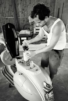 Mixing oil with petrol; Old Time #vespa Lover by Eur0, via Flickr