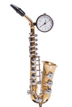 ChicMic Miniatur Uhr - Saxophon Vintage Uhr - Sammleruhr - 14 cm hoch und mit hochwertiger Geschenkbox