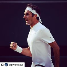 The quest for an 8th @wimbledon  continues! @rogerfederer beats #Berdych 7-6(4) 7-6(4) 6-4 to set a final clash vs #Cilic. #ATP #tennis #wimbledon #Federer