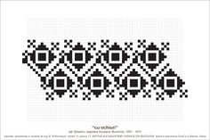 Semne Cusute: MOTIVE: cu ochiuri (P17, M11) Folk Embroidery, Embroidery Designs, Beading Patterns, Knitting Patterns, Simple Cross Stitch, Hama Beads, Pixel Art, Diy And Crafts, Traditional