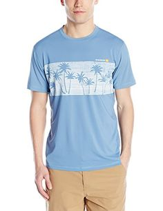 Quiksilver Waterman Mens Chill Short Sleeve Rash Guard Federal Blue Medium -- Read more reviews of the product by visiting the link on the image.