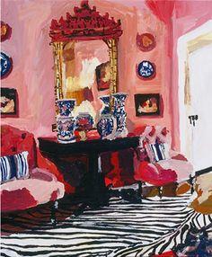 Love colorful paintings of interiors. Megan Adams Brooks