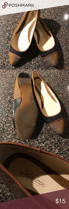 Lela Rose pointed color block flat shoes Lela Rose pointed color block flat shoes worn once by previous owner. Reposhing a little large for me. Size 8 Lela Rose Shoes Flats & Loafers