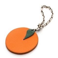 Hermès Fruit Key Chain Bag Charm in Orange Hermes Purse, Hermes Orange, Orange Bag, Orange Leather, Leather Design, Leather Jewelry, Charmed, Purses, Personalized Items