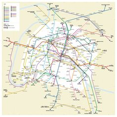 Detailed metro map of of Paris download for print out Maps to