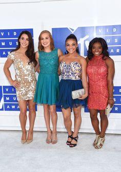 Aly Raisman, Madison Kocian, Laurie Hernandez and Simone Biles At The MTV VMA's