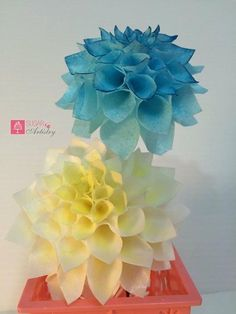 Wired wafer paper dahlia - Cake by Sugar Artistry Cakes by Shabana