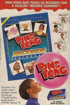 Álbum de Figurinhas Ping Pong Records Guinness 1995 #nostalgia #anos90