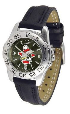 Youngstown State University Ladies Leather Band Sports Watch https://www.fanprint.com/licenses/akron-zips?ref=5750