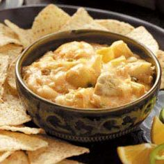 Creamy Artichoke Dip Recipe from Taste of Home -- shared by Mary Spencer of Waukesha, Wisconsin