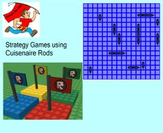 Cuisenaire Rods Strategy Games using Geometry