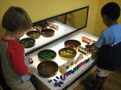 The light table by Takoma Park Cooperative Nursery School, via Flickr