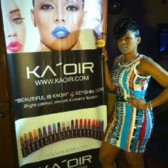 Ms. Keyshia Ka'Oir neon lipsticks.