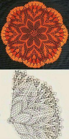 Free Crochet Doily Patterns, Crochet Doily Diagram, Crochet Lace Edging, Crochet Flower Tutorial, Crochet Squares, Crochet Chart, Thread Crochet, Filet Crochet, Crochet Dollies
