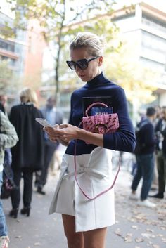 They Are Wearing: Paris Fashion Week - Slideshow White is still on trend for fall street wear..everywhere!