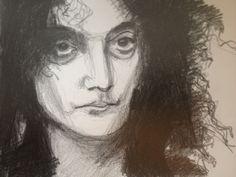 Pencil Drawing. Jerry Sadowitz.