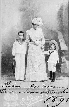 "Princess Zinaida Nikolaevna  Yusupova with her sons Prin es Nikolai and Felix Felixovich Yusupov.  ""AL"""