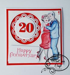 Uniqe handmade anniverasry card Wedding Anniversary Luxury