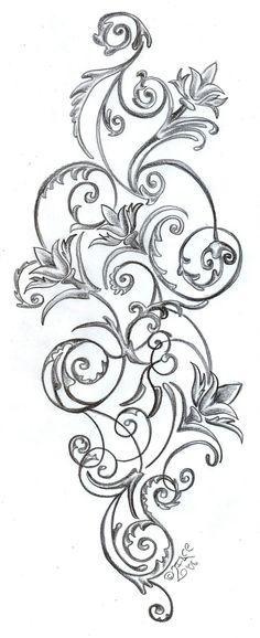 Flowers ornamentation Design by 2Face-Tattoo.deviantart.com on @deviantART