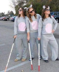 Diy Powerpuff Girl Costumes Unique Diy Three Blind Mice Halloween Costumes Can T Beat This Trio Costumes, Cute Group Halloween Costumes, Friend Costumes, Theme Halloween, Halloween Costumes For Girls, Zombie Costumes, Halloween Couples, Family Costumes, Family Halloween