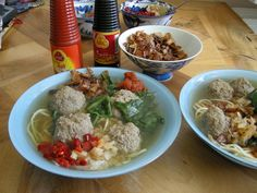 Indonesian food: homemade bakso by me :)