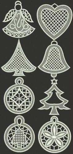Advanced Embroidery Designs - Christmas Ornament Set II