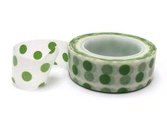 Hey, I found this really awesome Etsy listing at https://www.etsy.com/listing/206053396/green-polka-dot-washi-tape-green-washi