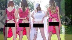 Sposa e damigelle mostrano il lato b: Ecco la nuova moda del Bridesmaids Mooning