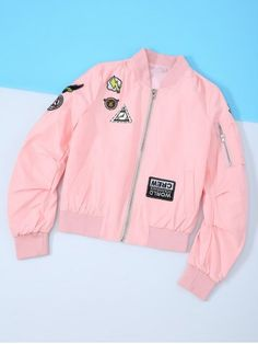 GET $50 NOW | Join RoseGal: Get YOUR $50 NOW!http://www.rosegal.com/jackets/letter-appliques-long-sleeve-baseball-668989.html?seid=4021664rg668989