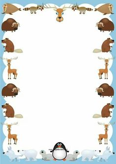 Walruses Yaks Deer Bears Penguins And Other Animals Decorate This Cute