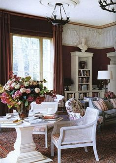 {decor inspiration | interior designer : nicky haslam} by {this is glamorous}, via Flickr