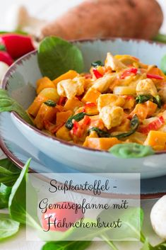 Sweet potato and vegetable pan with chicken breast fillet ⋆ Favorite .- Sweet potato and vegetable pan with chicken breast fillet Healthy Chicken Recipes, Easy Healthy Recipes, Baby Food Recipes, Crockpot Recipes, Dinner Recipes, Potato Recipes, Potato Vegetable, Vegetable Casserole, Vegetable Recipes
