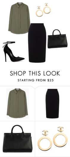 """Untitled #17"" by regi35715 on Polyvore featuring MANGO, Roland Mouret, Yves Saint Laurent and Chanel"
