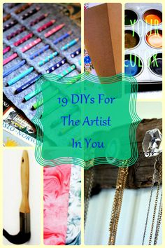 19 DIYs For The Artist In You
