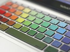 """Well, I wouldn't call this """"furniture"""" but I thought it was so epic, it's a RAINBOW KEYBOARD!!!! I mean NO ONE has ever seen a keyboard like this!!"""