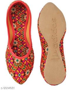 Juttis & Mojaris Latest Fabulous Women Ethnic Jutis & Mojaris Material: Synthetic Sole Material: PVC Fastening & Back Detail: Slip-On Pattern: Colorblocked Multipack: 1 Sizes:  IND-7 IND-6 IND-9 IND-8 IND-5 IND-4 Country of Origin: India Sizes Available: IND-8, IND-9, IND-10, IND-4, IND-5, IND-6, IND-7   Catalog Rating: ★4.1 (2974)  Catalog Name: Latest Graceful Women Jutis & Mojaris CatalogID_1766083 C75-SC1069 Code: 352-9914681-135