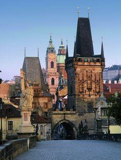 Prague Charles Bridge Mala Strana Tower