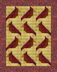 If Cathy didn't have enough red quilts, this would be a great one for her.    Cardinal
