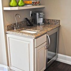 """minibar"" Design Ideas, Pictures, Remodel, and Decor - page 4 Attic Renovation, Attic Remodel, Basement Renovations, Basement Ideas, Basement Walls, Dark Basement, Small Kitchen Plans, Mini Kitchen, Space Kitchen"