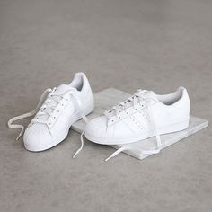 ALL WHITE! The all white Adidas Superstar Foundation is now availble! #SupplyingGirlsWithSneakers