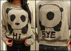 Panda says Hi... Panda says Bye