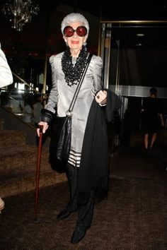 Cool Chic Style Fashion: Iris Apfel uno stile. fantastico