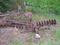 Horse Drawn Disk - photo by david w. pearcy, Beautiful Lawns of Wa. Farmall Tractors, Old Tractors, Vintage Tractors, Vintage Farm, Farm Tools And Equipment, Food Plots For Deer, Appalachian People, Farm Images, Guard House