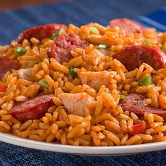 Chicken and Sausage Jambalaya- We provide the chicken, sausage, vegetables and spices, you bring the heat and serve over rice! Price per Meal: $3.29  $2.94 for more http://www.cajun-kitchen.com/products/chicken-and-sausage-jambalaya